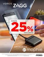 Ofertas de Mobo, Hasta 25% de descuento en vidrios ZAGG y artículos mophie
