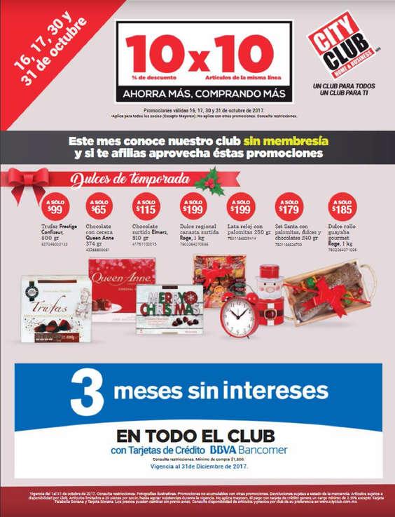 Ofertas de City Club, Catálogo Octubre