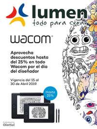 WACOM hasta 25% de descuento