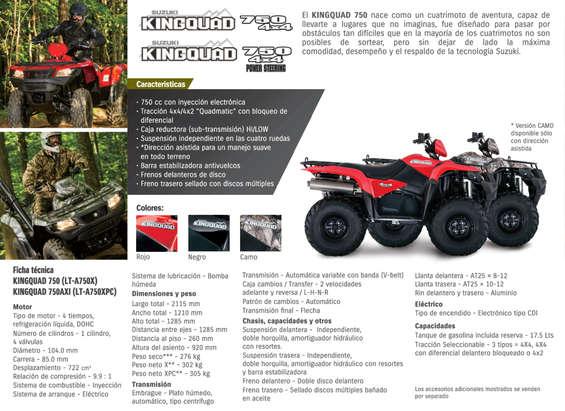 Ofertas de Suzuki Motos, Kingquad 750