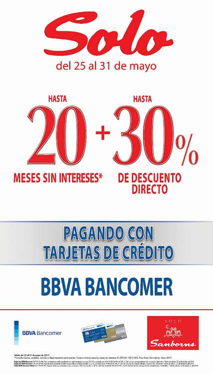 Ofertas de Sanborns, Hasta meses sin intereses + 30% de descuento