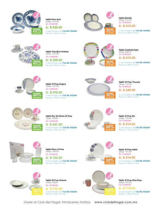 Vajillas en canc n cat logos ofertas y tiendas donde for Catalogo de vajillas