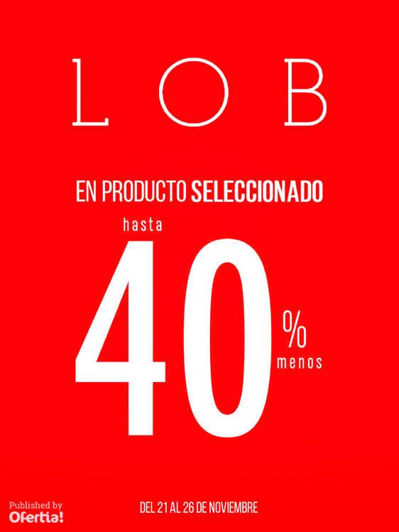 Ofertas de LOB, En producto seleccionado hasta 40%