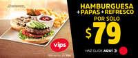 Hamburguesa+Papas+Refresco por sólo $79