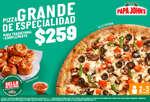 Ofertas de Papa John's, Pizza grande de especialidad a $259