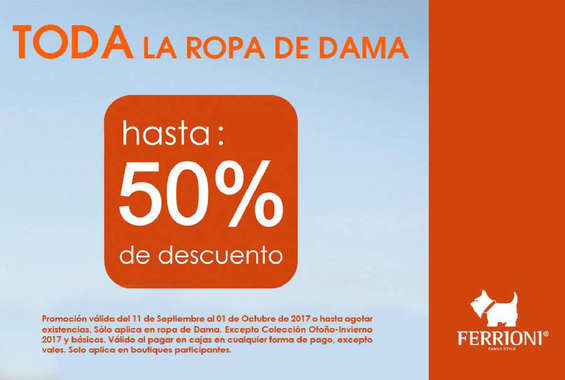 Ofertas de Ferrioni, 50% de descuento