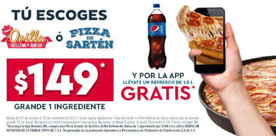 Ofertas de Domino's Pizza, Refresco gratis Domino's