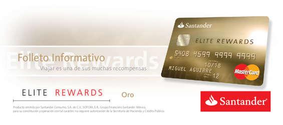 Ofertas de Santander, Folleto Informativo Elite Rewards Oro