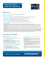 Ofertas de Citibanamex, Tarjeta de crédito Best buy
