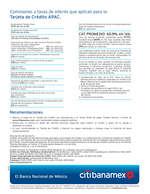 Ofertas de Citibanamex, Tarjeta APAC