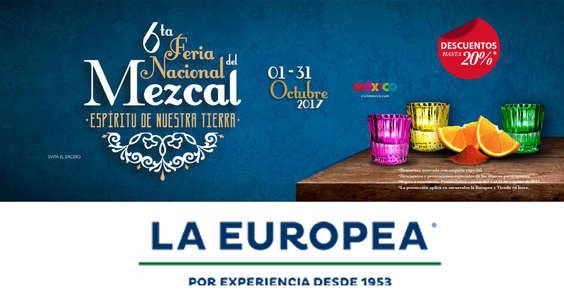 Ofertas de La Europea, 6ta Feria Nacional del Mezcal