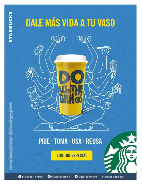 Ofertas de Starbucks, Dale más vida a tu vaso