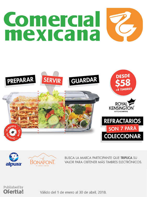 Ofertas de Comercial Mexicana, Promo refractarios 1 enero al 30 abril