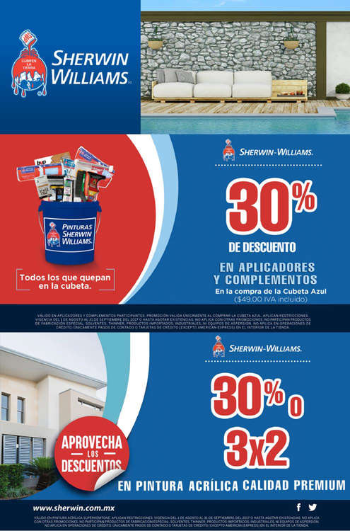 Ofertas de Sherwin Williams, Promo mensual