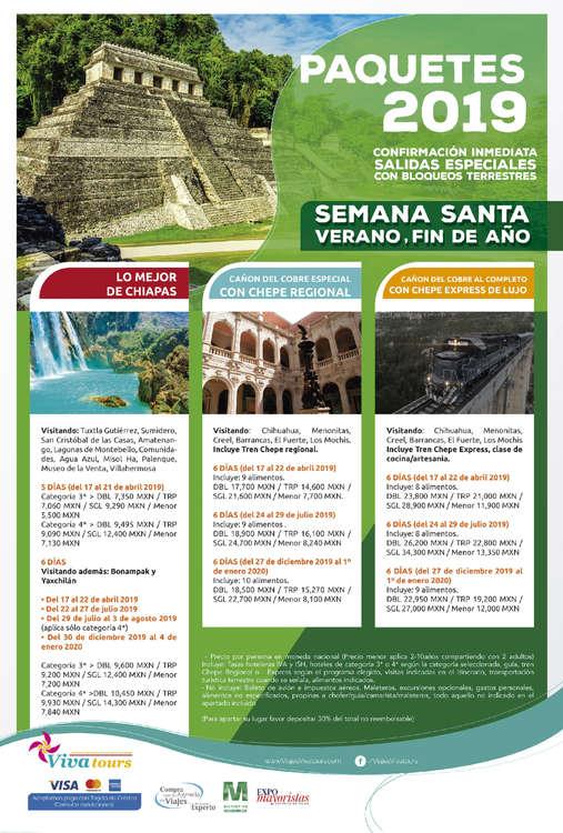 Ofertas de Viva Tours, Paquetes 2019
