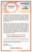 Ofertas de Radio Shack, Ayudemos a México