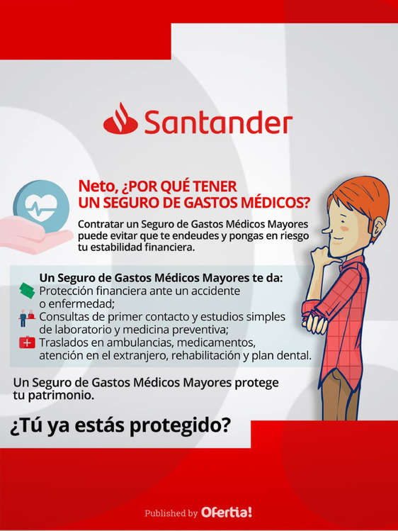 Ofertas de Santander, Seguro de Gastos Médicos