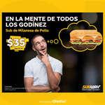 Ofertas de Subway, Sub de milanesa de pollo por $35