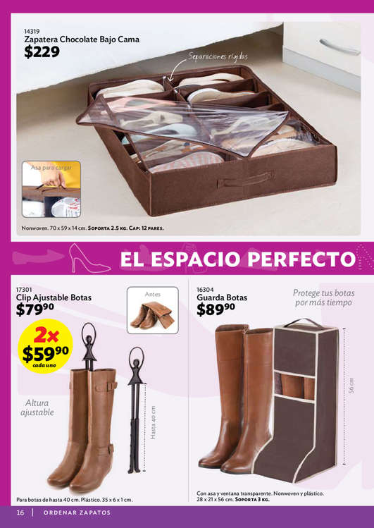 Zapatero extensible en oaxaca de ju rez cat logos for Ofertas de zapateros
