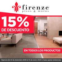 Firenze 15% de descuento