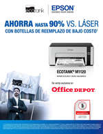 Ofertas de Office Depot, Ahorra hasta 90% vs. láser